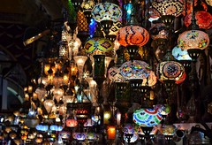 Lights in every color (Grand Bazaar) (mervezeyynep) Tags: city travel lights nikon istanbul grandbazaar oldistanbul stamboul nikonphotography beautifuldestinations istanbulmoments
