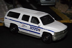 Matchbox NYPD Chevy Suburban (car show buff1) Tags: new york b chicago classic ford sedan truck fire chief models engine police nypd utility brush monaco international dash bmw dodge pierce series squad 13 mack command charger hazard pursuit diorama collectibles matchbox dept speedway 2010 seagrave interceptor diecast f550 2015 workstar