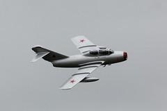 MIG 15 UTI at Cosford (clackzuk) Tags: mig mikoyangurevich mig15uti mig15 norwegianairforcehistoricalsquadron