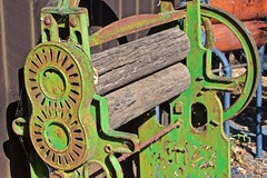 'JEWEL' cast iron mangle - clothes wringer (outback traveller) Tags: historic seq