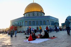 One of the tables, breakfast in the yard of the al-Aqsa Mosque.. (TeamPalestina) Tags: heritage beautiful architecture sunrise hope amazing photographer sweet palestine jerusalem domeoftherock blockade freepalestine alaqsa palestinian occupation goldendome  oldcityjerusalem landscapecaptures