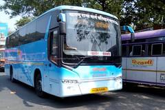 MSRTC Shivneri Scania Heading towards Borivali from Pune (gouravshinde94) Tags: msrtc shivneri scania bus pune mumbai