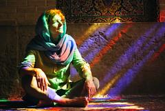 Shiraz (cranjam) Tags: light portrait reflections carpet veil iran islam middleeast hijab persia stainedglass mosque mum mamma shiraz angela riflessi ritratto velo luce moschea mediooriente tappeto vsco nasiralmulkmosque masjedenasiralmolk ایران شیراز مسجدنصیرالملك