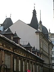 Rooflines of opova ulica, Ljubljana, Slovenia (Paul McClure DC) Tags: architecture historic slovenia ljubljana slovenija jan2013