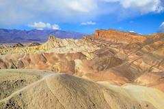 Zabriskie Point (markwhitt) Tags: california usa mountains nature beautiful beauty clouds landscape nikon scenery desert scenic deathvalley zabriskiepoint d800 deathvalleynationalpark markwhitt markwhittphotography