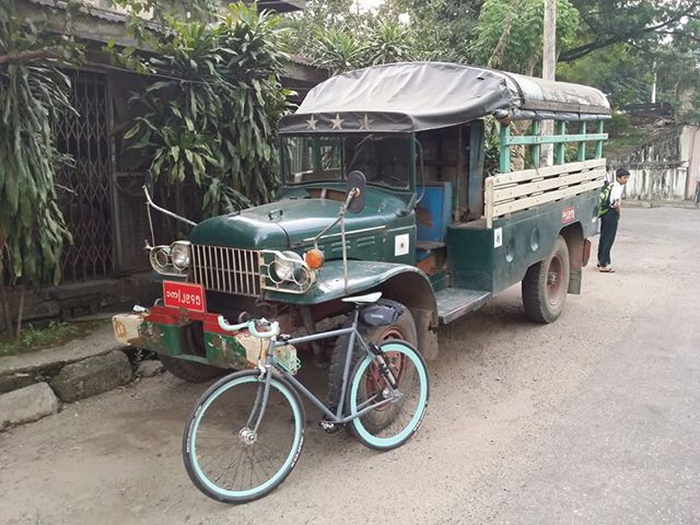 bicycle truck cycling yangon burma dodge myanmar trucks steamroller surly rangoon powerwagon yangoncity northerndistrict bahoroad yangonregion kamaryut kamayuttownship kamaryuttownship