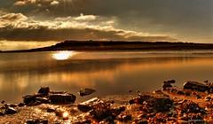 Penarth (Margarita K...) Tags: ocean sky sun seascape reflection beach southwales wales clouds landscape coast nikon rocks south penarth d5200