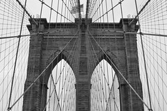 Wired (John S Pemberton) Tags: nyc usa newyork brooklyn subway suspension manhattan wires brooklynbridge