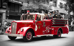 Fire Mans Veterans Parade (pepenosta) Tags: new york red fire parade mans ave 5th veterans