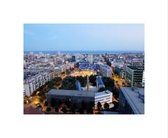 Mediapro VII (2 Marvelous 4 Words) Tags: barcelona city houses windows sea sky architecture night buildings 22 spain arquitectura edificios terrace roofs views santmarti roofterrace edificis edificimediapro 48openhousebcn