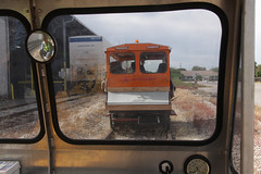 Looking Out of Railcar on Saturday (gg1electrice60) Tags: row mow speeder rightofway motorcar beavercar pinsley maintenanceofway rrtrack mountdoraflorida narcoa wintergardenflorida eustisflorida umatillaflorida plymouthflorida northamericanrailcarownersassociation viewfromrailcarfrommontgomeryalabama floridacentralrailroadheadquarters narcoamemberfrommontgomeryalabama highrailvehicles pickuptruckswithrailwheels fcenheadquarters