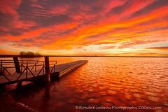 Sunrise on the Fishing Dock (RondaKimbrow) Tags: morning sunrise intense fishing dock colorado colorful reservoir loveland lonhagler rondakimbrowphotography500pxcom