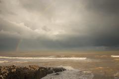 Rainbow on Temara (aminefassi) Tags: sea copyright seascape beach water weather landscape rainbow morocco rainy maroc plage  arcenciel 6d temara skhirat ainatiq ef2470mmf28ii aminefassicom