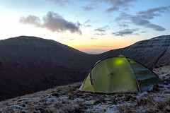 Wild camp - Brecon Beacons (~T.J~) Tags: camping mountains nature wales sunrise landscape dawn hiking tent breconbeacons wildcamping canonef1740mmf4l forceten forcetenion2