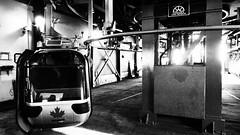 Banff Gondola Sulphur Mountain (Wilson Hui) Tags: industrial mechanical olympus gritty terminal alberta banff gondola sulphurmountain banffgondola doppelmayr grainyfilm artfilter garaventa goldauswitzerland aerialtramways gondolaterminal olympus1250mm olympsuem5