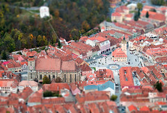Miniature Braov - Tilt/Shift (Nikon D3200 - Explored 19-11-2014 #4) (adammlewis) Tags: shift romania 70300mm transylvania tilt brasov blackchurch tiltshift nikond3200 bisericaneagr nikonafs70300mmf4556vr braov outstandingforeignphotographersvisitingromania potd:country=gb