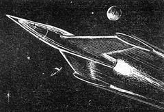 Final Barrier, 1952 (Tom Simpson) Tags: art illustration vintage space scifi rocket sciencefiction spaceship rocketship 1952 scifiart sciencefictionart