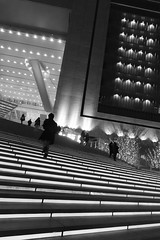 Osaka station (NINA KOB) Tags: city blackandwhite architecture night design stair illumination
