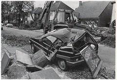 1983 CITROEN VISA SUPER E 1124cc PYX426Y (Midlands Vehicle Photographer.) Tags: uk storm 1987 citroen super e 1983 visa 1124cc pyx426y