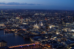 St Paul's Cathedral from The Shard at night (Mark Bowerbank) Tags: from st night cathedral pauls shard the