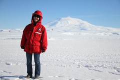 "Cynthia and Mt Erebus • <a style=""font-size:0.8em;"" href=""http://www.flickr.com/photos/27717602@N03/15991187169/"" target=""_blank"">View on Flickr</a>"