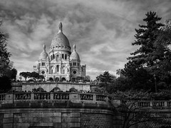 Sacre Coeur (80D-Ray) Tags: blackandwhite paris sacrecoeur