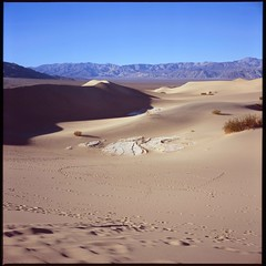 Circular bowl (ADMurr) Tags: california blue film rollei death gold fuji purple tracks footprints slide bowl explore chrome valley dvnp