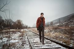mountain_man4 (Tobias Hibbs) Tags: railroad winter portrait snow mike fashion train michael model tracks editorial poconos blizzard antm msa thphoto wwwtobiashibbsphotographycom scocozza