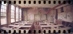 Science Lab (No Stone Unturned Photography) Tags: school abandoned film 35mm lomo lomography louisiana lab classroom room science holes 400 rocket sprocket urbex rodessa