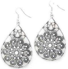 5th Avenue White Earrings P5611-3