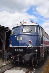 DB E10 348 Koblenz Ltzel (eddespan (Edwin)) Tags: train zug db loc trein e10 lok spoorwegmuseum deutschebundesbahn eisenbahnmuseum eloc treinmuseum koblenzltzel