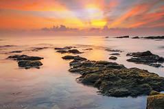 Tanjung Jara Terengganu (KM SNIPER-X) Tags: sunset seascape nature sunrise landscape amazing long exposure ray slow minolta sony shutter km jara pantai terengganu tanjung carlzeiss a57 leefilter kmsniperx