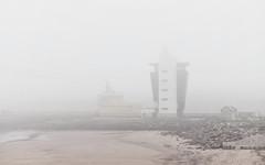 Haar (D9132674 E-M1 40mm iso200 f5.6 1_80s) (Mel Stephens) Tags: uk tower weather fog coast scotland boat ship control transport olympus structure coastal aberdeen pro q3 omd haar 2014 em1 m43 1240mm mirrorless microfourthirds mzuiko 201409 20140913