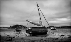Alnmouth . (wayman2011) Tags: uk boats mono coast northumberland alnmouth canon5d lightroom riveraln bwlandscapes wayman2011