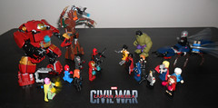Lego Civil war 2016_001 (mateoluzardo) Tags: man america war iron steve tony civil galaxy captain rogers hulk stark guardians groot deadpool