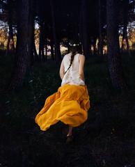 In the green forest (Alessandra Scalogna) Tags: girls light portrait woman green vintage garden photo donna reflex model photographer dream giallo dreams luci dettagli delicate gambe foresta mattina passione dettaglio profumo modella