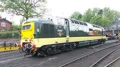 D9002 at Bridgnorth (Decibel Dave) Tags: napier severnvalleyrailway deltic englishelectric 55002 type5 d9002