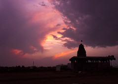 Silhouettes and dramatic skies are the stuff sagas are made of (pradeep javedar) Tags: sunset sky silhouette architecture illustration clouds landscape temple indian dramatic drama saga legend cloudscape storytelling dravidian canonphotography canon600d nammagulbarga
