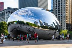 Cloud Gate (Flipped Out) Tags: chicago millenniumpark cloudgate thebean anishkapoor mercuryrising
