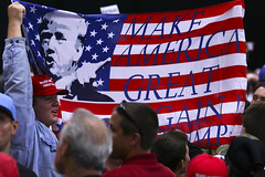 Trump rally (hammerwold) Tags: make sarah america soldier san flag president rally great protest vice diego donald presidential again republican trump campaign arrest palin