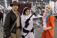 Unlikely Trio (greyloch) Tags: costumes starwars cosplay princessleia dccomics indianajones harleyquinn comicbookcharacter moviecharacter wizardworldphiladelphia comicbookcostume moviecharactercostume