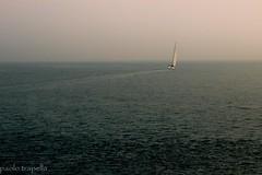 Mirage... (paolotrapella) Tags: sea barca mare acqua orizzonte canoneos600d
