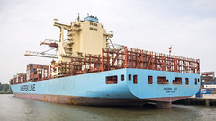 Maersk Luz, Hong Kong (G. Warrink) Tags: boat rotterdam ship harbour transport cargo