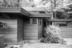 178/365 - Frank Lloyd Wright Smith House (JoyVanBuhler) Tags: project365 blackandwhite bloomfieldhills michigan usa us building