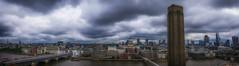 City Panorama (Mike Hewson) Tags: city bridge panorama london thames lumix cityscape tate stpauls panoramic millennium tatemodern panasonic blackfriars cityoflondon gx8 squaremile photo24 micro43 microfourthirds