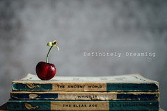 With A Cherry On Top (DefinitelyDreaming) Tags: stilllife food cherry simple foodphotography vintagebooks sonya99