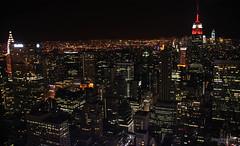New York Cityscape - Sea of lights (Zaphod Beeblebrox 1970) Tags: city newyork building night dark lights licht manhattan ngc rockefellercenter citylights stadt empirestate lichter nachtaufnahme dunkelheit topoftherocks