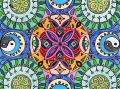 Tangle Number 9 (Manurnakey) Tags: postcard doodle handdrawn zentangle zendoodle