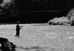 Launching a laser (W. Robin Hill) Tags: fishing nation casting spey