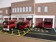 Acton fire station 1/76 scale model (kingsway john) Tags: scale station fire model models card kit act acton kingsway 176 oogauge